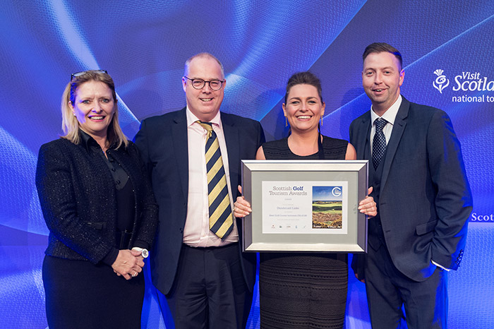 Dundonald Links at Scottish Golf Tourism Awards 2017